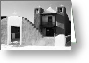 Taos Pueblo Greeting Cards - San Geronimo Chapel Taos Pueblo Greeting Card by Troy Montemayor