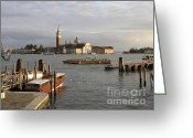 Italia Greeting Cards - San Giorgio Maggiore Greeting Card by Bernard Jaubert