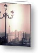 Janeen Wassink Searles Greeting Cards - San Giorgio Maggiore Seen From Venice  Greeting Card by Janeen Wassink Searles