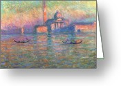 1908 Greeting Cards - San Giorgio Maggiore Venice Greeting Card by Claude Monet