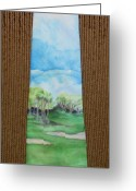 Desert Tapestries - Textiles Greeting Cards - San Jacinto Tee Time Greeting Card by David Kelly