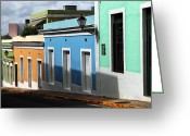 Puerto Rico Greeting Cards - San Juan Colors Greeting Card by John Rizzuto