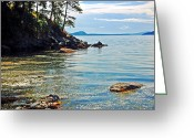 Randall Templeton Greeting Cards - San Juan Islands Greeting Card by Randall Templeton