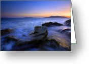 Tides Greeting Cards - San Juan sunset Greeting Card by Mike  Dawson