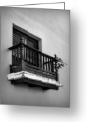 Puerto Rico Greeting Cards - San Juan Window 2 Greeting Card by Perry Webster