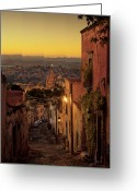 Jardin Greeting Cards - San Miguel de Allende Sunset Greeting Card by Dusty Demerson