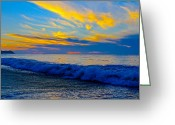 Pancho Greeting Cards - San Pancho Sunset Greeting Card by Atom Crawford