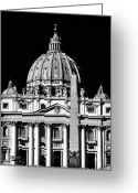 Vatican City Greeting Cards - San Pietro Greeting Card by John Rizzuto