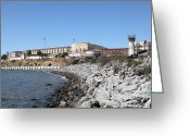 Criminals Greeting Cards - San Quentin State Prison in California - 5D18454 Greeting Card by Wingsdomain Art and Photography