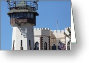 County Jail Greeting Cards - San Quentin State Prison in California - 5D18467 Greeting Card by Wingsdomain Art and Photography