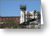 County Jail Greeting Cards - San Quentin State Prison in California - 7D18542 Greeting Card by Wingsdomain Art and Photography