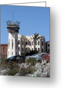 County Jail Greeting Cards - San Quentin State Prison in California - 7D18543 Greeting Card by Wingsdomain Art and Photography