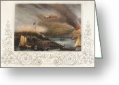 Peninsular Greeting Cards - San Sebastian Siege, 1813 Greeting Card by Granger