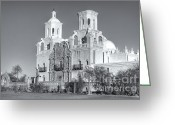 Santa Cruz Valley Greeting Cards - San Xavier del Bac Mission V Greeting Card by Clarence Holmes