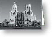 Santa Cruz Valley Greeting Cards - San Xavier del Bac Mission VI Greeting Card by Clarence Holmes