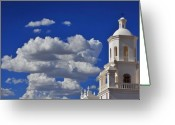Architecture Greeting Cards - San Xavier Greeting Card by Skip Hunt