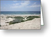 On The Beach Greeting Cards - Sand and Sea Greeting Card by Carol Groenen