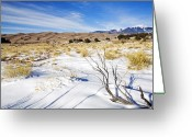 National Greeting Cards - Sand and Snow Greeting Card by Mike  Dawson