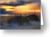 Sea Oats Greeting Cards - Sand Dune and Sea Oats II Greeting Card by Dan Carmichael