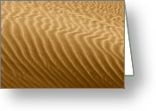 Desert Landscapes Greeting Cards - Sand Dune Mojave Desert California Greeting Card by Christine Till