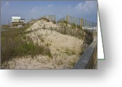 Topsail Greeting Cards - Sand Dunes II Greeting Card by East Coast Barrier Islands Betsy A Cutler