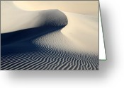 Road Trip Greeting Cards - Sand dunes patterns in Death valley Greeting Card by Pierre Leclerc