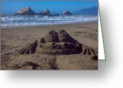 Shadow Shapes Greeting Cards - Sand frog  Greeting Card by Garry Gay