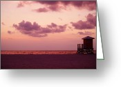 Beach Posters Greeting Cards - Sand Key Sunset Greeting Card by Milton Brugada