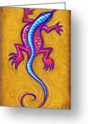 Lizard Greeting Cards - Sand Lizard Greeting Card by David Kyte