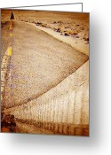 Photographer Photographs Photographs Greeting Cards - Sand Of Concrete  Greeting Card by Jerry Cordeiro