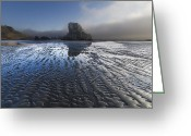 Tidal River Greeting Cards - Sand Sculptures Greeting Card by Debra and Dave Vanderlaan