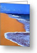 Sand And Sea Greeting Cards - Sand Sea Sky Greeting Card by Thomas R Fletcher