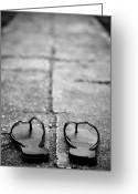 Flip Greeting Cards - Sandals Greeting Card by Photography PÃ¥