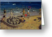 Sandcastle Greeting Cards - Sandcastle Greeting Card by Andrew Macara