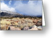 Autumn Photographs Greeting Cards - Sandia December Greeting Card by Andrea Hazel Ihlefeld