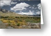 Luz Greeting Cards - Sandia Range Autumn Greeting Card by Andrea Hazel Ihlefeld