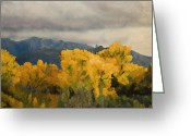 Rio Grande Greeting Cards - Sandias from the Bosque Greeting Card by Jack Atkins