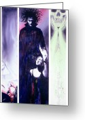 Vertigo Painting Greeting Cards - Sandman Tryptich Greeting Card by Ken Meyer jr