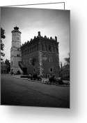 Town Hall Greeting Cards - Sandomierz BW Greeting Card by Kamil Swiatek