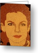Portrait Reliefs Greeting Cards - Sandra Bullock Greeting Card by Kovats Daniela