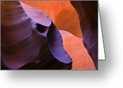 Striations Greeting Cards - Sandstone Apparition Greeting Card by Mike  Dawson