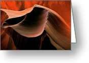 Striations Greeting Cards - Sandstone Melody Greeting Card by Mike  Dawson