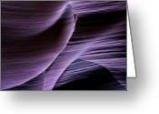 Striations Greeting Cards - Sandstone Symphony Greeting Card by Mike  Dawson