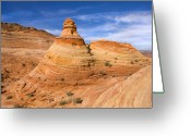Striations Greeting Cards - Sandstone Tent Rock Greeting Card by Mike  Dawson