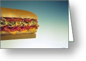 Sub Greeting Cards - Sandwich Greeting Card by Vance Fox