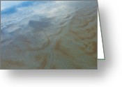 Florida Living Greeting Cards - Sandy Beach Abstract Greeting Card by Carolyn Marshall
