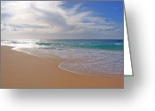 Boogie Board Greeting Cards - Sandy Beach Morning Greeting Card by Kevin Smith