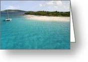Desert Solitude Greeting Cards - Sandy Cay BVI Greeting Card by Bryan Allen