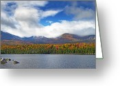 Baxter Park Greeting Cards - Sandy Stream Pond in Baxter State Park Maine Fall Greeting Card by Brendan Reals