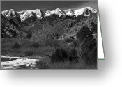 Fault Block Greeting Cards - Sangre De Cristos Greeting Card by Paul Gana